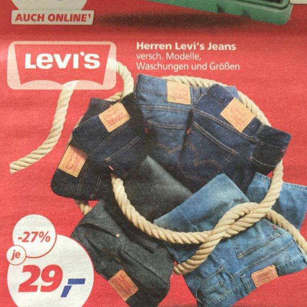 Levi's Jeans für Damen und Herren bei REAL 27%