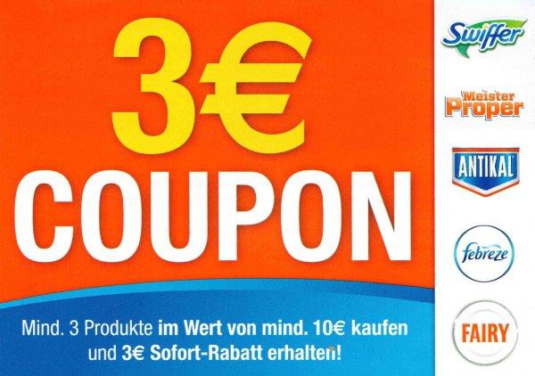 [Kaufland NRW ggf. auch andere] Mr. Proper Badspray, Swiffer 20er und Fairy -3€ Coupon