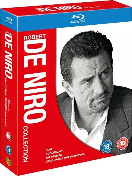 """[Zavvi] Robert de Niro Bluray Collection - """"Heat"""", """"Goodfellas"""", """"Es war einmal in Amerika"""", """"Mission"""" - für 13,94€"""
