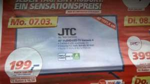 [Real on & offline] ab Montag 07.03: JTC 40 Zoll FHD LED-TV T2/C/S2 Genesis 4 ab 199 Euro