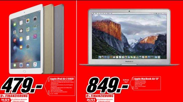 "Apple MacBook Air 13"" und iPad Air 64GB im Media Markt Köln Kalk ab Monag"