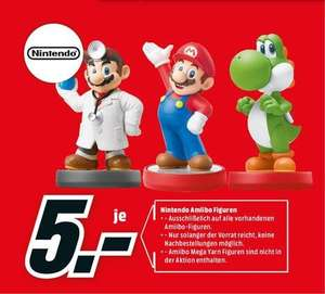 [Lokal] Köln-Kalk: Media Markt: Alle vorrätigen Amiibo Figuren (ausgenommen Mega Yoshi) für je 5€