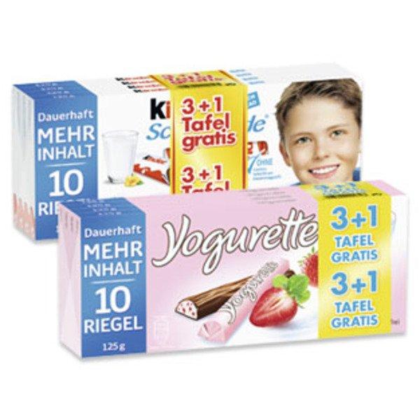 [Bundesweit, Penny] KW10: Yogurette oder Kinderschokolade 3+1 Angebote  [0,74€ / Tafel]