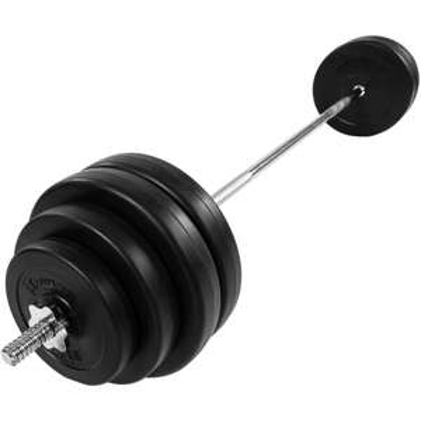 MOVIT® Langhantel Set 30kg Hantel Langhantelstange Gewichte Hantelscheiben