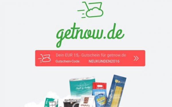 Gratis.Lokal München 15 Euro getnow Gutschein Supermarkt Lieferung ohne MBW !!!