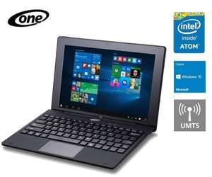 [One] One Tablet Xcellent 10.1 Pro XL 2GB RAM 64GB eMMC Windows 10  inkl. hochwertiges Tastatur-Dock mit Touchpad (3G/UMTS optional für 29,99€))