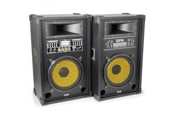 [Dealclub] SKYTEC SPA1000Y PA Aktiv Speakerset 10'' SD/USB/MP3
