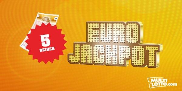 5 Reihen EuroJackpot für nur 5,00 statt 10,00 Euro bei einen der größten Lotto Anbieter Weltweit Multilotto.com
