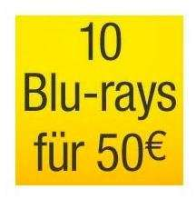10 Blu-rays für 50€ bei Amazon.de