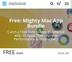 [stacksocial] Mighty Mac App Bundle - 10 Apps gratis statt 131$
