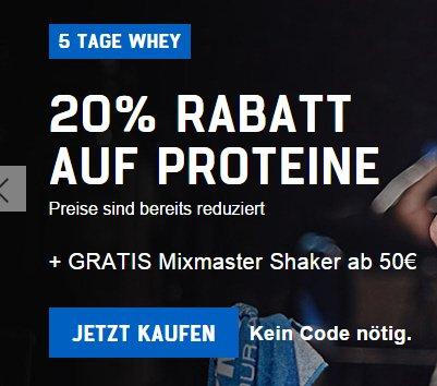 [Myprotein] Impact Whey Protein ab ca. 7,20/kg (Schokoladen-Aromen)