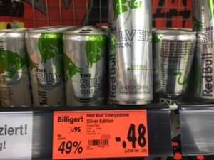 Red Bull Energydrink 250 ml Silver Edition 0,48 €