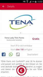 Tena Lady Thin Pants Gratismuster [Scondoo]