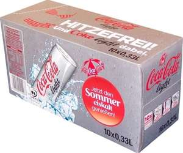 (Jawoll)Coca-Cola light Friendspack 10x0,33l für 2,99 anstatt 3,79€ (1 Dose = 0,29€)