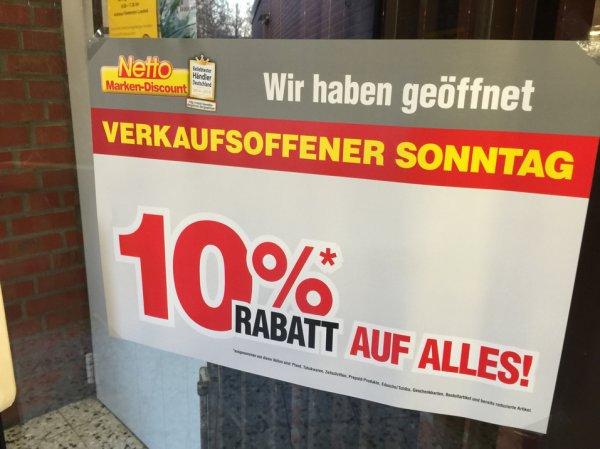 [Lokal Netto Coesfeld] 10 % auf alles am verkaufsoffenen Sonntag