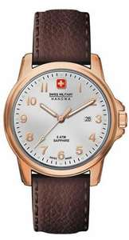 [Luna Pearls + Amazon Marketplace] Swiss Military Hanowa 06-4141.2.09.001 Herren Edelstahluhr mit Lederarmband und Saphirglas ab 54,82€ incl.Versand!