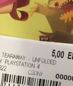 (Lokal) Hamm Saturn Tearaway Unfolded ps4 5€ VORBEI