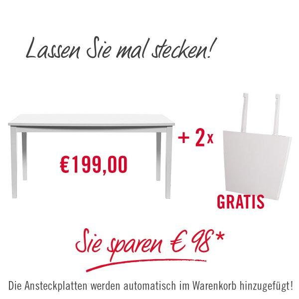 2x Großer Esstisch mit Ansteckplatten bei Butlers mit Rosedeal-Gutschein(Vente-Privee)