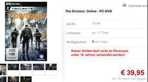 The Division DVD Version Box für PC 39,95 Euro - lokal Gera Netgames (+Versand 3,90 Euro)
