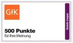 Deutschlandcard - 500 Punkte durch die Anmeldung bei der GfK