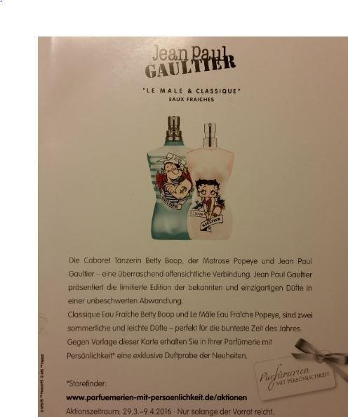 ( Parfümerien mit Persönlichkeit ) Jean Paul Gaultier