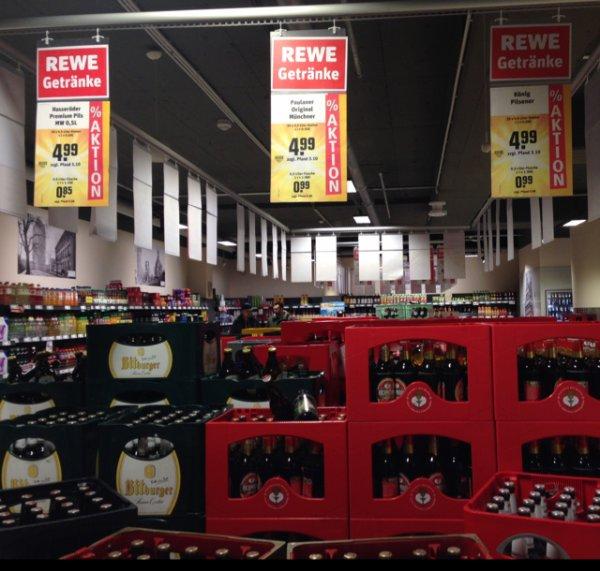 (Lokal Rewe Köln Barbarossaplatz) verschiedene Bierkosten für 4,99