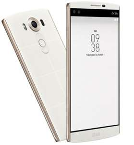LG V10 weiß für 495,69 5,7'' 4GB RAM, 32 GB, Qualcomm 808-6-Kern, Gorilla-Glas 4, NFC, LTE-Band20, Fingerabdrucksensor, Android 6.0, High-End-16MP Kamera, 32Bit High-End-Audio, wechselbarer Akku!