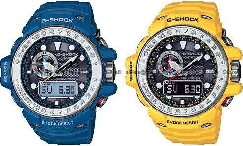 [uhr.de] Casio G-Shock Gulfmaster GWN-1000 in Gelb oder Blau für 269,10€ incl.Versand!