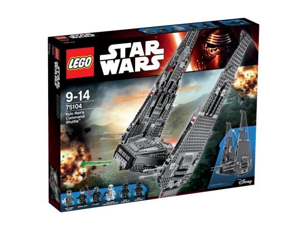 [mytime.de] LEGO Star Wars Kylo Ren's Command Shuttle 75104 für 15€ und andere günstige Lego Artikel