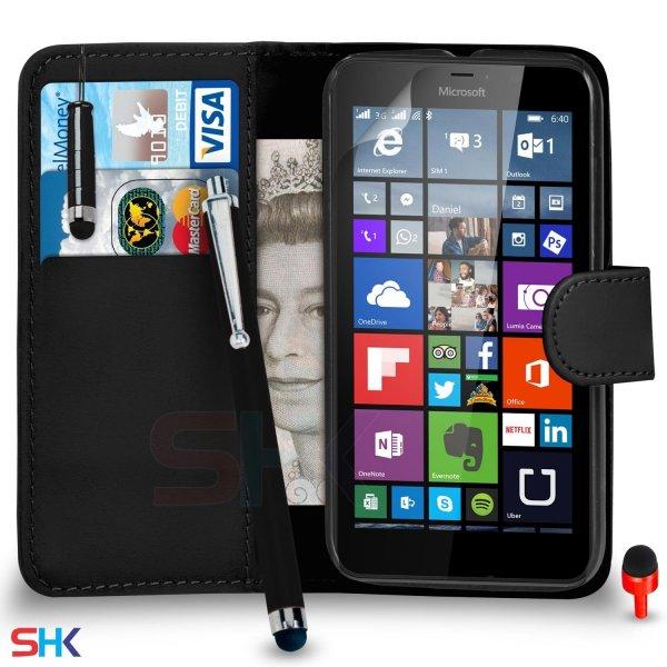 Lumia 640 : Wallet + Displayfolie + 2 Stylus + Putztuch + Staubstopper(??) für 2,94€ inkl. Versand @amazon