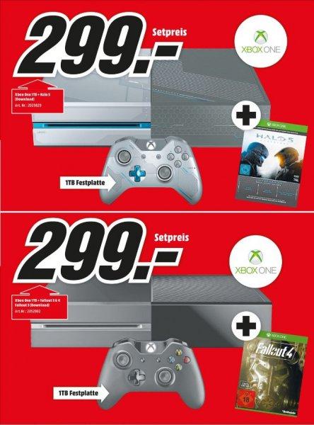 [Lokal Köln-Marsdorf] Microsoft Xbox One 1TB + Halo 5: Guardians - Limited Edition oder Microsoft Xbox One 1TB schwarz + Fallout 3 & 4 für je 299,-€ *NICHT Limitiert*