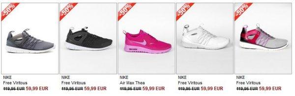 Nike Free Viritous Damen verschiedene Modelle für 63,99€ inkl Versand @ burner.de