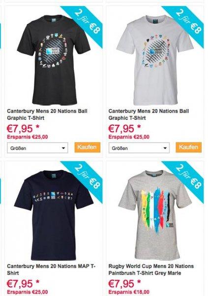 [MandM] Multi-Buy Aktion mit 2 Rugby T-Shirts im Doppelpack ab 6€ (+4,99€ VSK), viele Größen