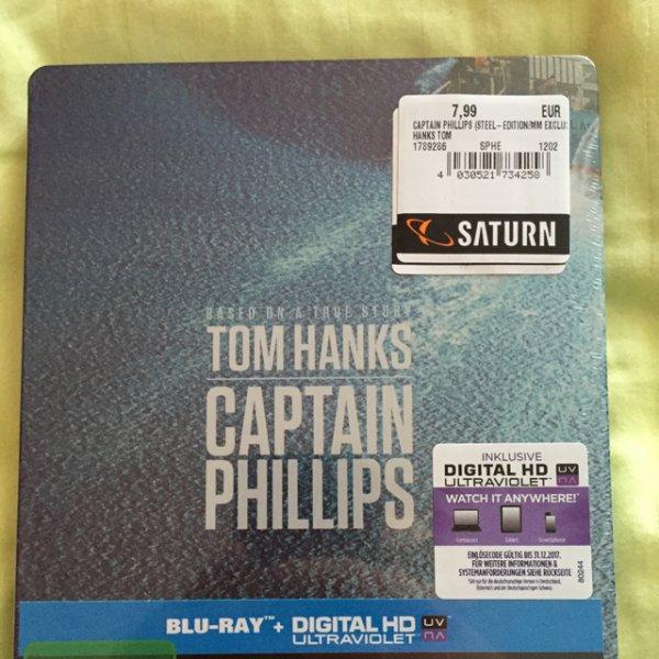Captain Phillips Blu-ray Steelbook für 7,99€ (PVG 14,42€/14,99€) [Saturn Wuppertal]