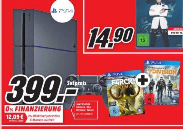 [Lokal Mülheim an der Ruhr] Playstation 4 500GB  The Division + FarCryPrimal
