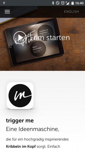 """[iPad App] trigger me – von Mario Pricken, Autor des Buches """"Kribbeln im Kopf"""" für drei Tage Gratis"""