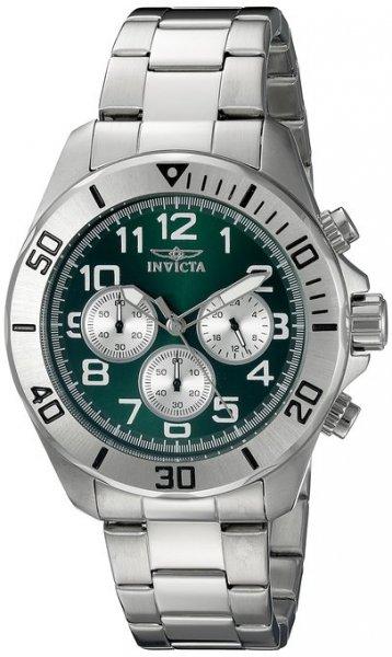 Invicta Pro Diver 18007 Chronograph Silber/Grün für 65,66 € @Amazon.de