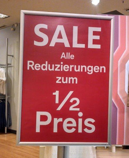 C&A 50% auf alle reduzierten Waren + 25%*