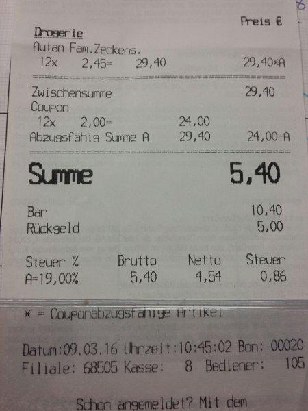 Kaufland Bayern (vielleicht nur Regional) Autan Protection Plus 100 ml für 0,45 €