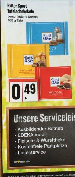 [lokal] Edeka Schleswig - Ritter Sport 100g Tafel 0,49€