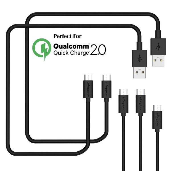 [Amazon - Prime] Micro USB Kabel 5 er Pack ?0,3m*1+1m*2+3m*2? von Anypro USB 2.0 für 7,62 Euro
