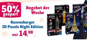 Ravensburger 3D Puzzle Night Edition (Empire State,Eifelturm,Big Ben,...) @toysrus