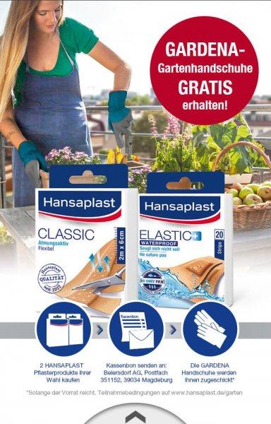 (Scoondo) 2x Hansaplast Produkt kaufen und 1x gardena Gartenhandschuhe (idealo:3,79€) gratis erhalten
