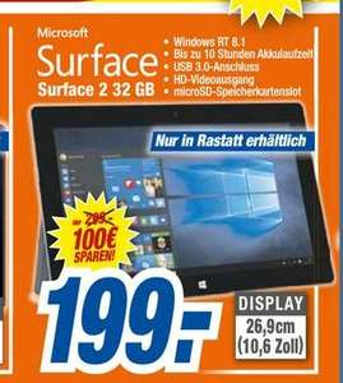[LOKAL] Octomedia Rastatt Microsoft Surface 2 32 GB Windows T 8.1 für 199,00 €