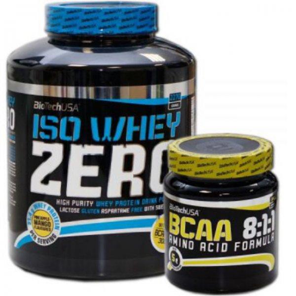 Biotech Iso Whey Zero Protein 2270g+ BCAA 8:1:1, laktosefrei, verschiedene Geschmacksrichtungen