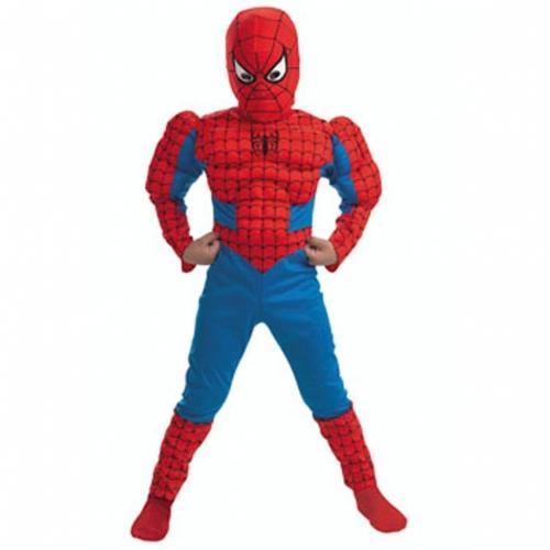 Spider-Man Kostüm Anzug mit Muskeln in Größe 146, ideal für Fasching für 15,44 EUR @ Amazon.de