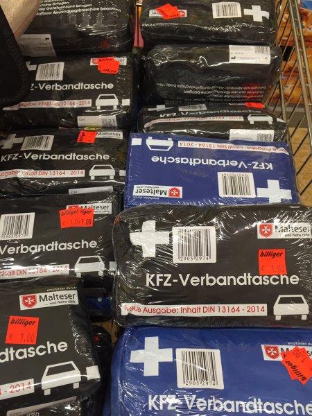 [lokal/Rastede] KFZ-Verbandtasche für 1,- € bei ALDI Nord