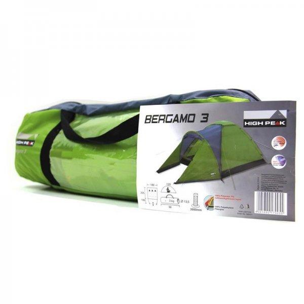 [dualmediascout] High Peak Zelt Bergamo 3, 3 Personen Camping Zelt für 24,99€