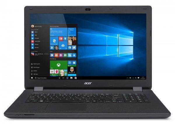 Acer Aspire ES1-731-C5TV mit Celeron-Quad, 4GB RAM, 500GB HDD, DVD+/-RW, 17,3 Zoll Display und Windows 10 für 299,90€ bei Alternate@ebay