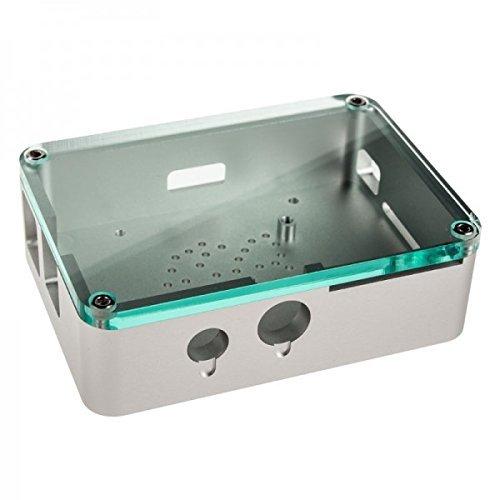 Anidées Raspberry Pi Case ALUMINIUM (Unibody-Design) Silber für Modell Pi B